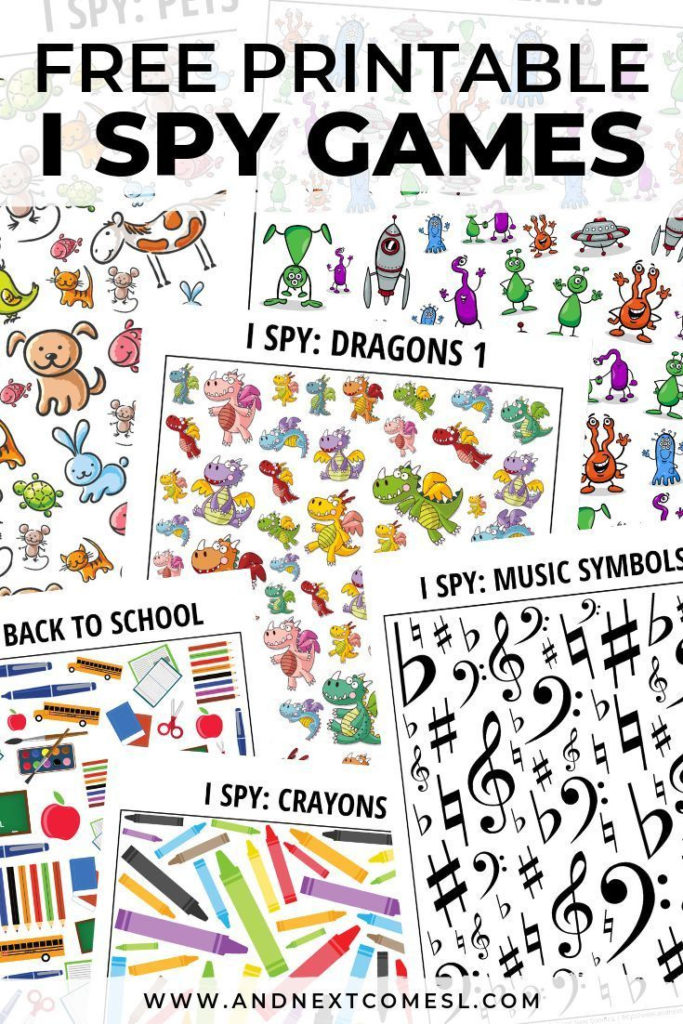 100 Awesome Printable I Spy Games For Kids Spy Games