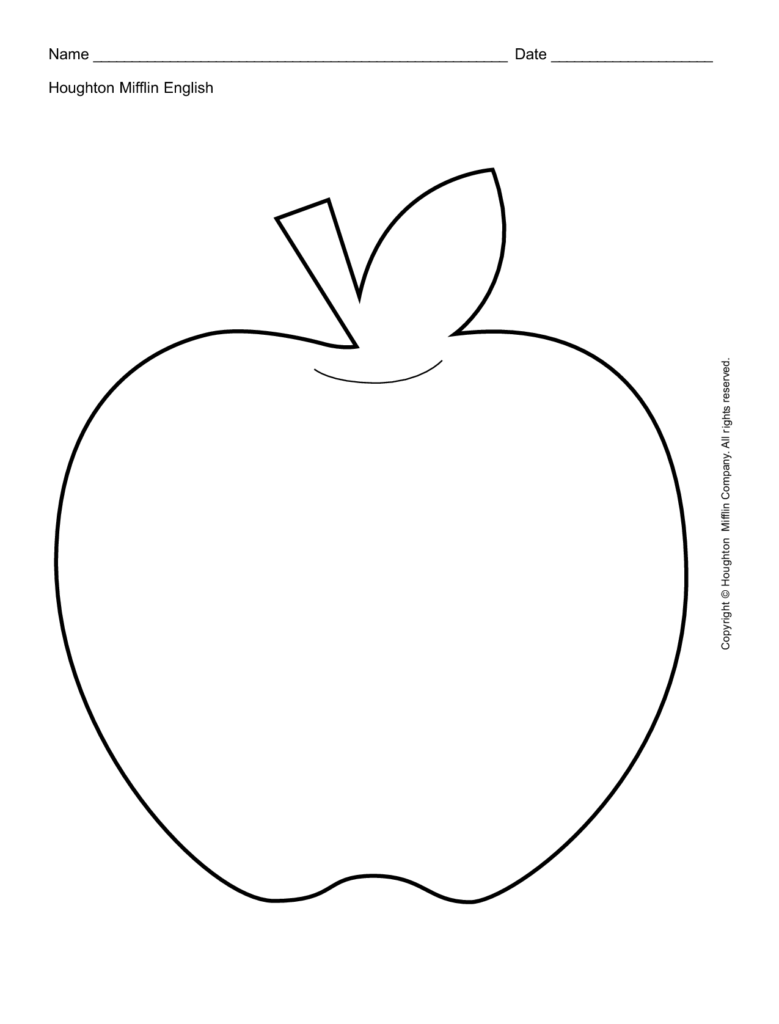 12 Best Images Of Apple Cutting Worksheet Apple Outline