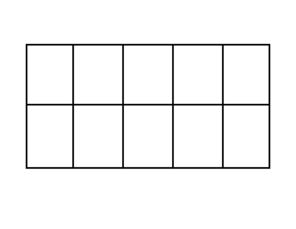 13 Best Images Of 10 Frame Worksheet Printable Blank 10