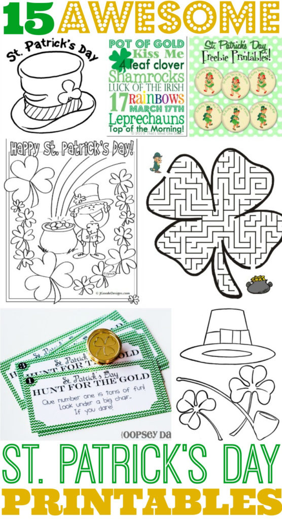 15 Awesome St Patrick S Day Free Printables For Kids