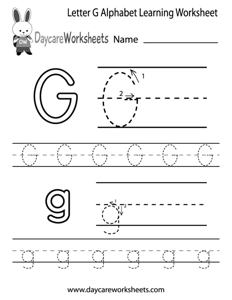 16 Best Images Of Traceable Letter G Worksheet Letter G