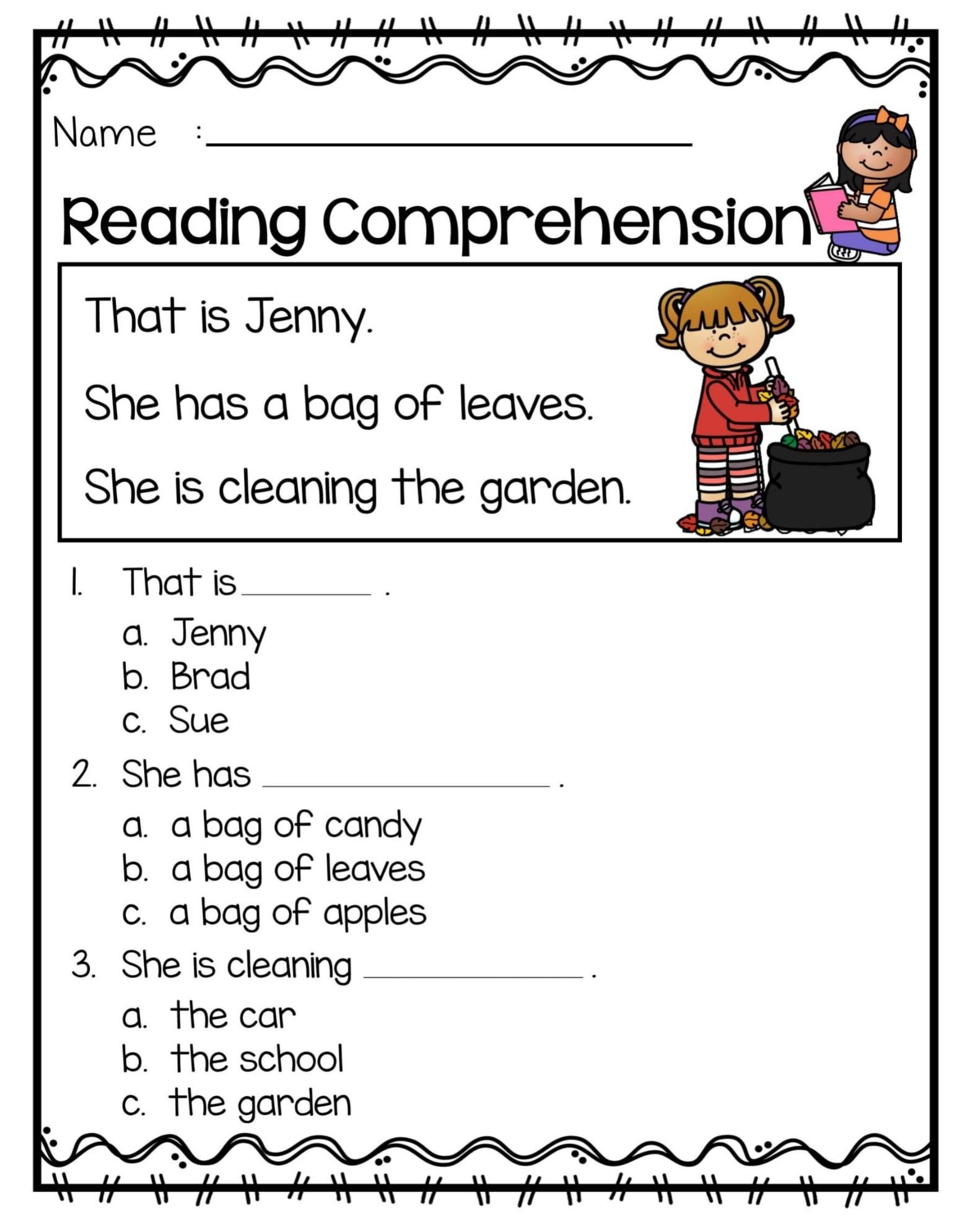 1st Grade Printable Worksheets