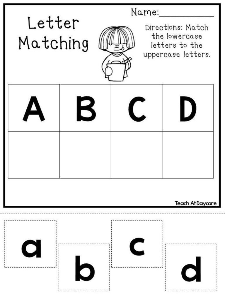 21 Printable Alphabet Matching Worksheets Preschoolkdg