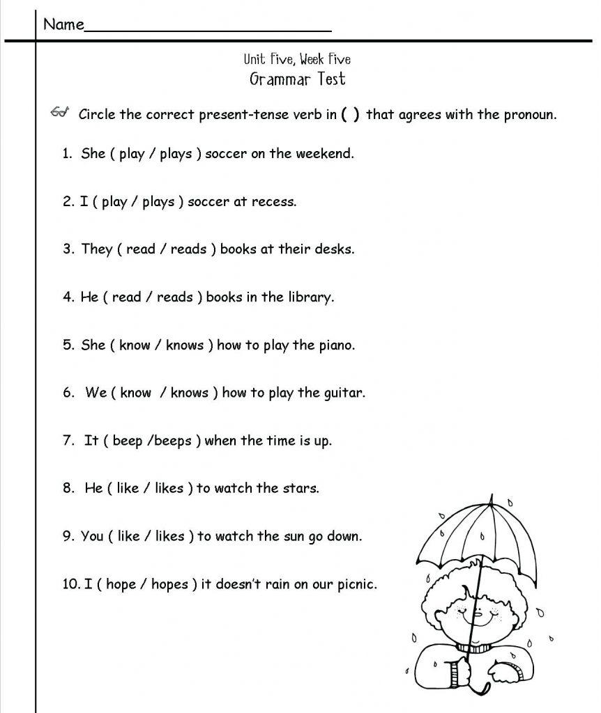 Grade 2 Worksheets English