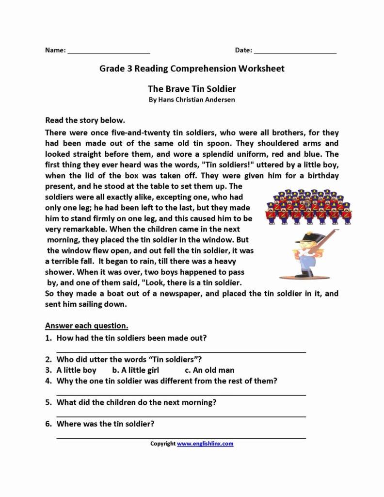2Nd Grade Reading Comprehension Worksheets Pdf Db Excel