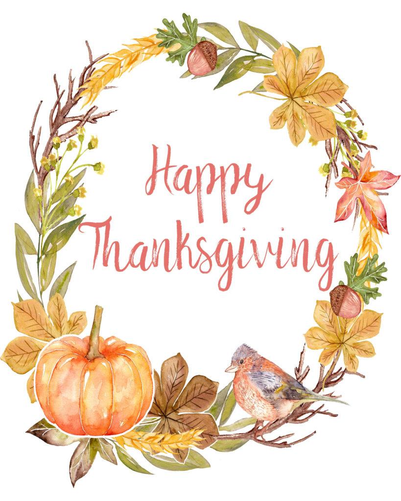 4 Gorgeous Free Printable Thanksgiving Wall Art Designs