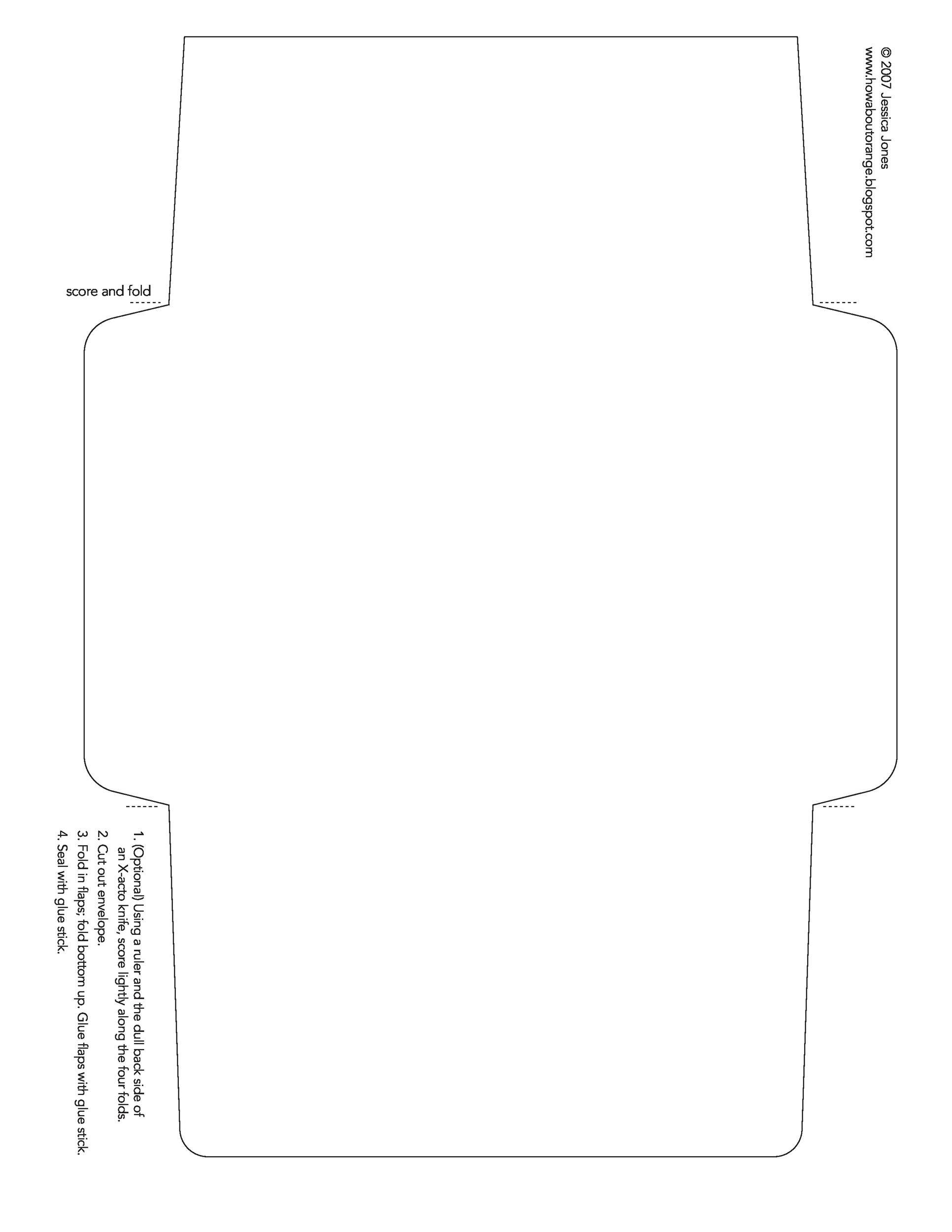 Free Printable Envelope Templates