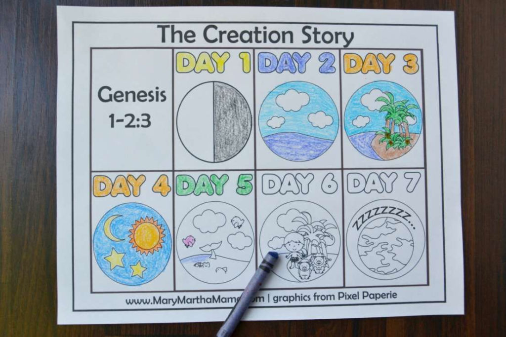 49 Mean 7 Days Of Creation Coloring Pages Pdf Conexionunder