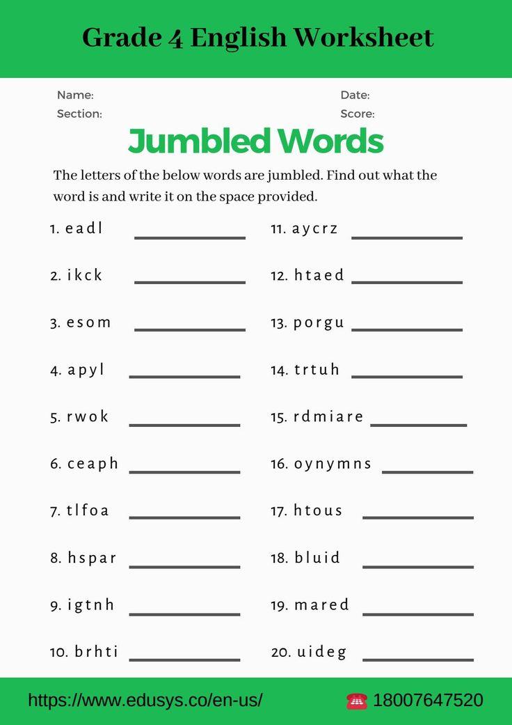 Grade 4 Worksheets English