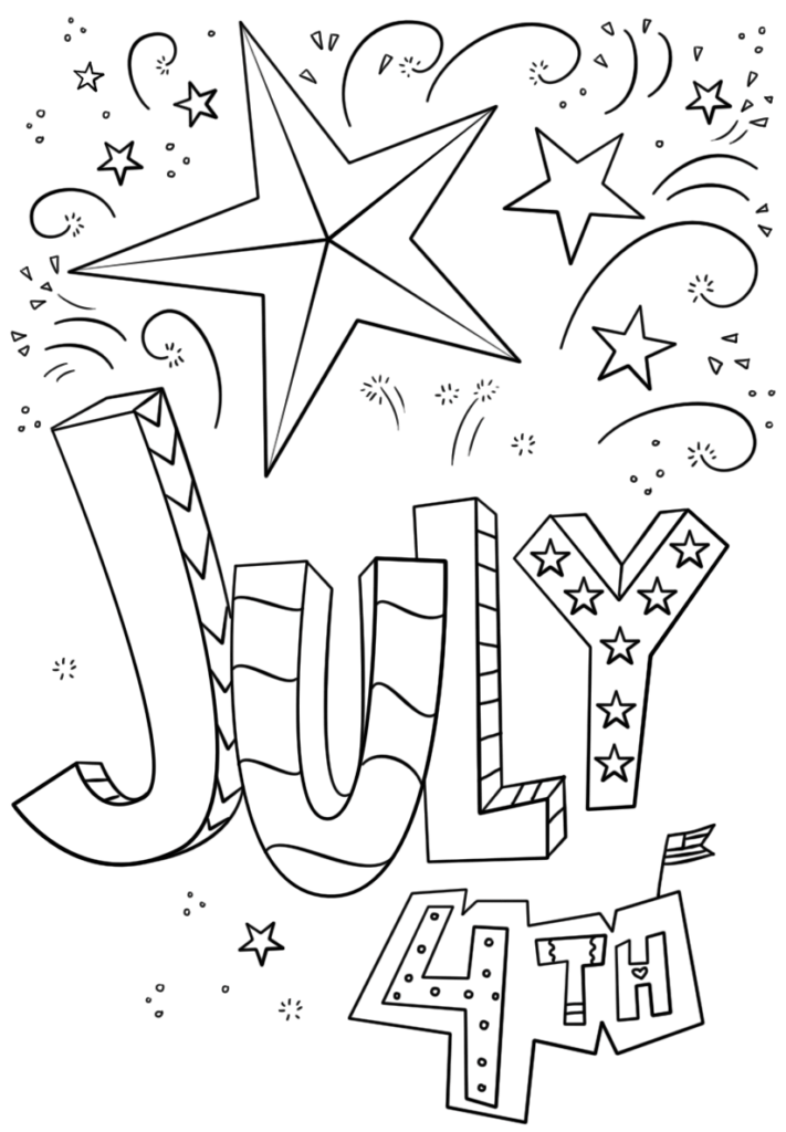 4th Of July Coloring Pages Printable Templates For Kids