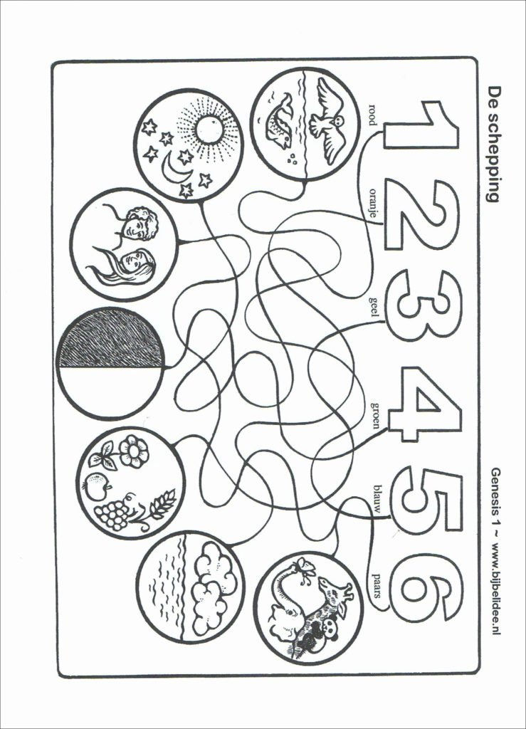 7 Days Of Creation Coloring Pages New 16 New Creation