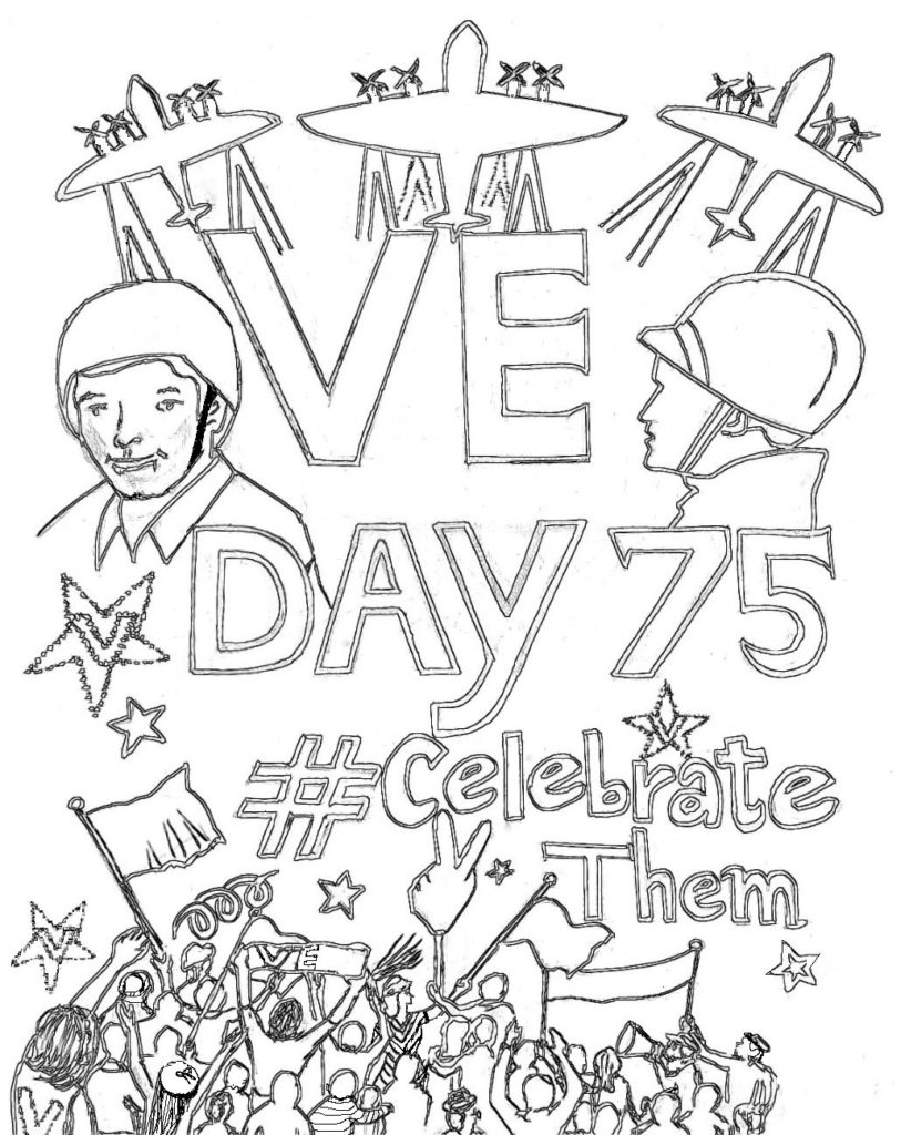 75th Anniversary Of VE Day Coloring Posters CelebrateThem