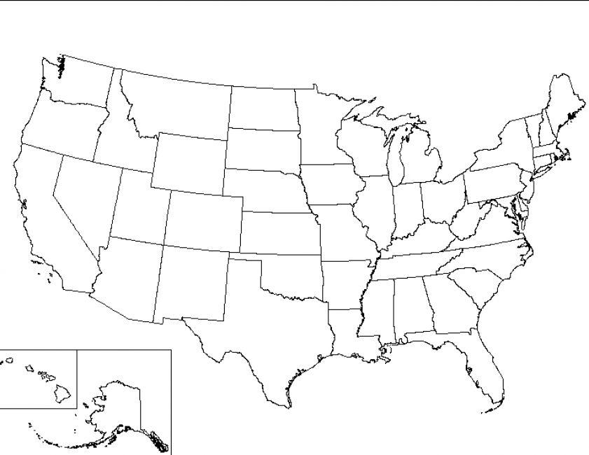 Free Printable United States Map