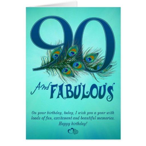 Free Printable 90th Birthday Cards