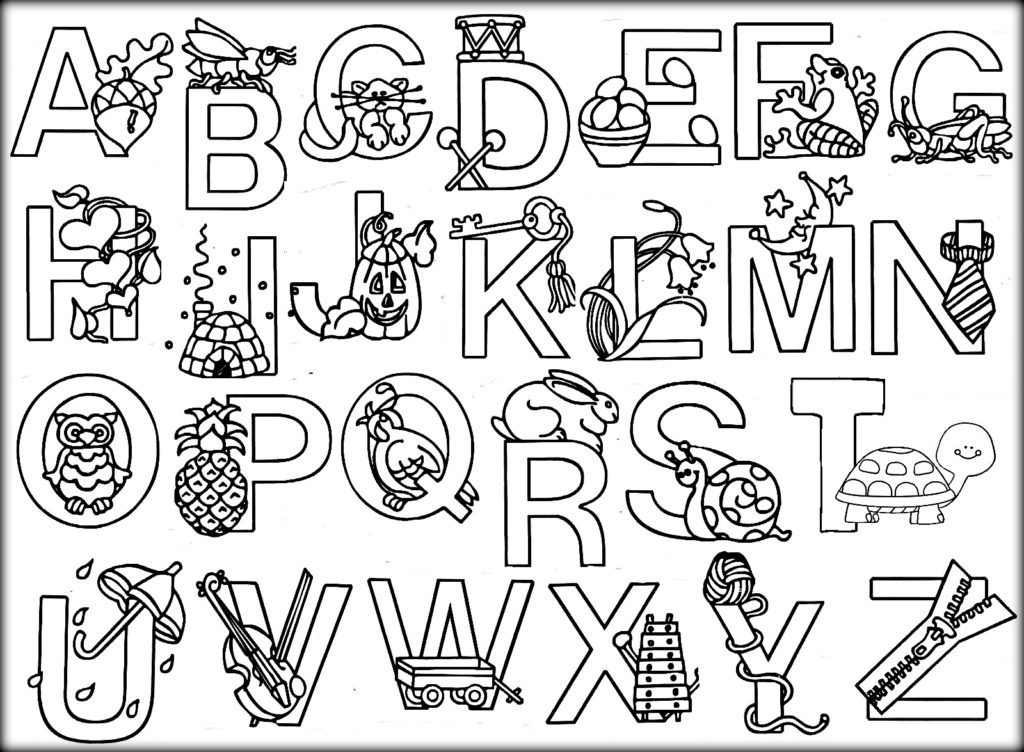 Animal Alphabet Coloring Pages Free At GetColorings