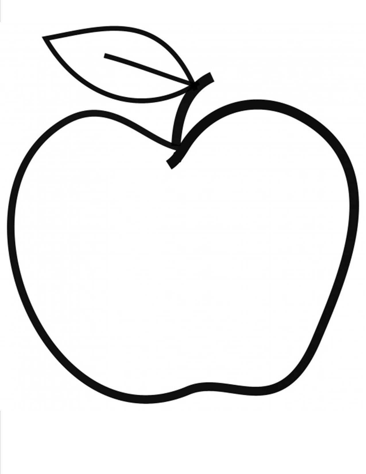 Apple Template Printable