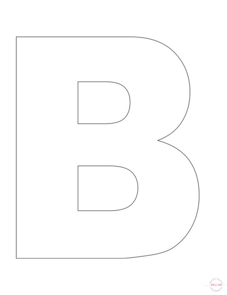 B Is For Buttons Letter Craft Free Printables Must
