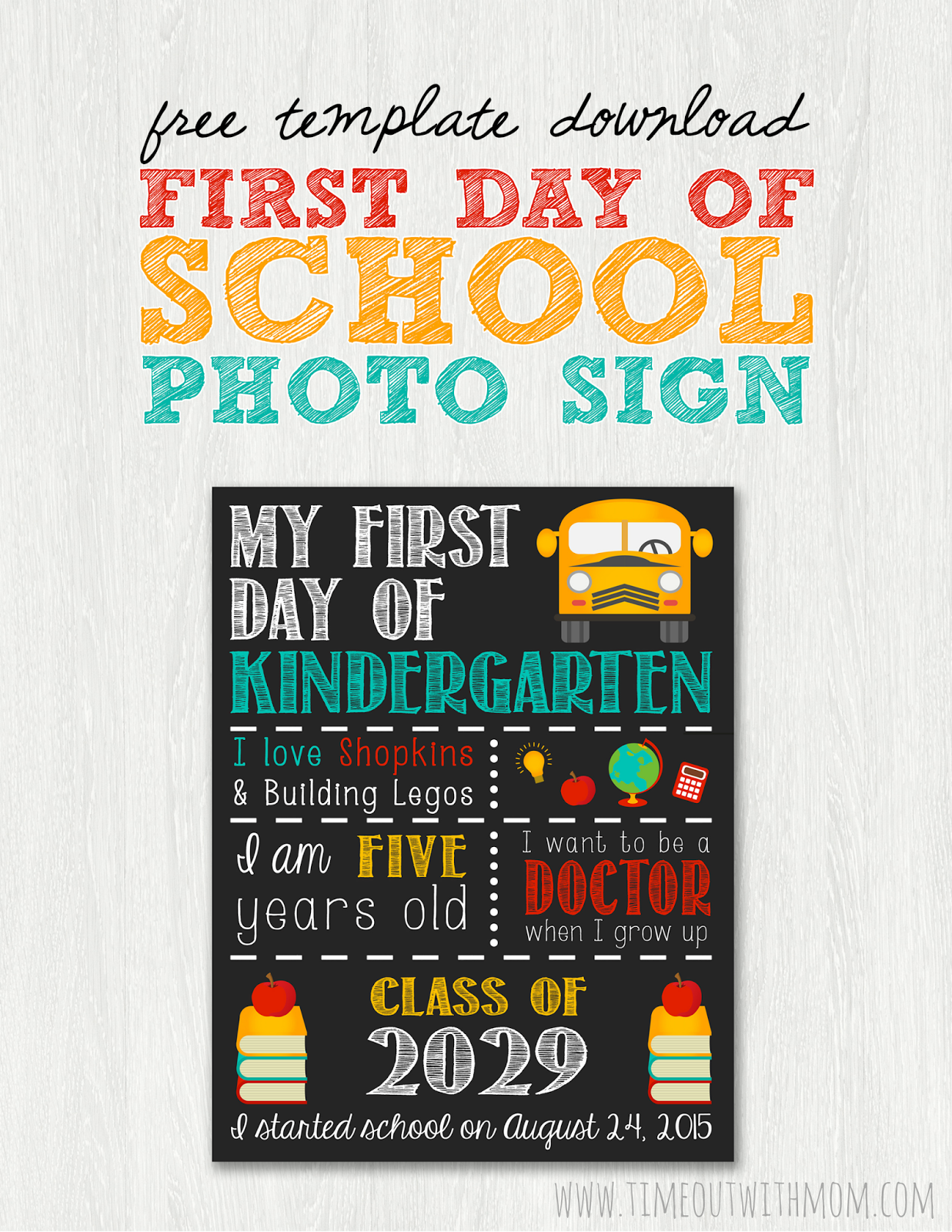 First Day Of School Template