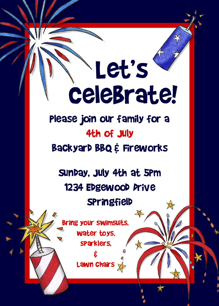 Free Printable 4th Of July Invitations
