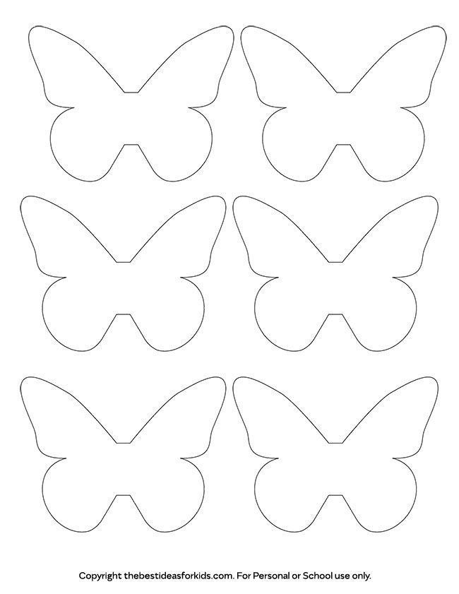 Free Printable 3d Butterfly Template