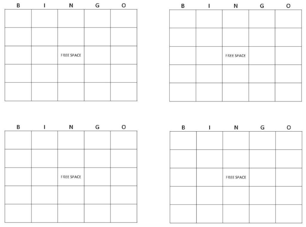 Blank Bingo Cards Get Blank Bingo Cards Here