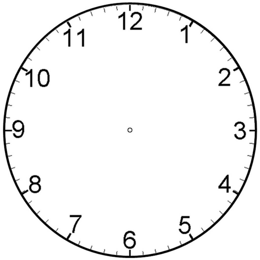 Clock Face With Minutes Printable Learning Printable