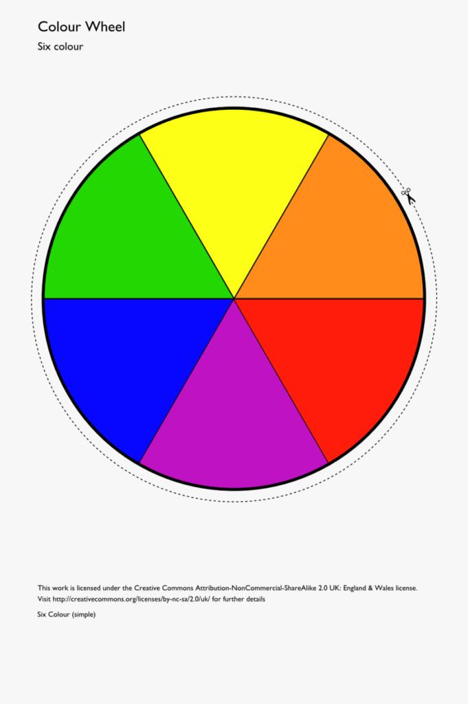 Color Wheel Template Printable Clipart Best Simple Color