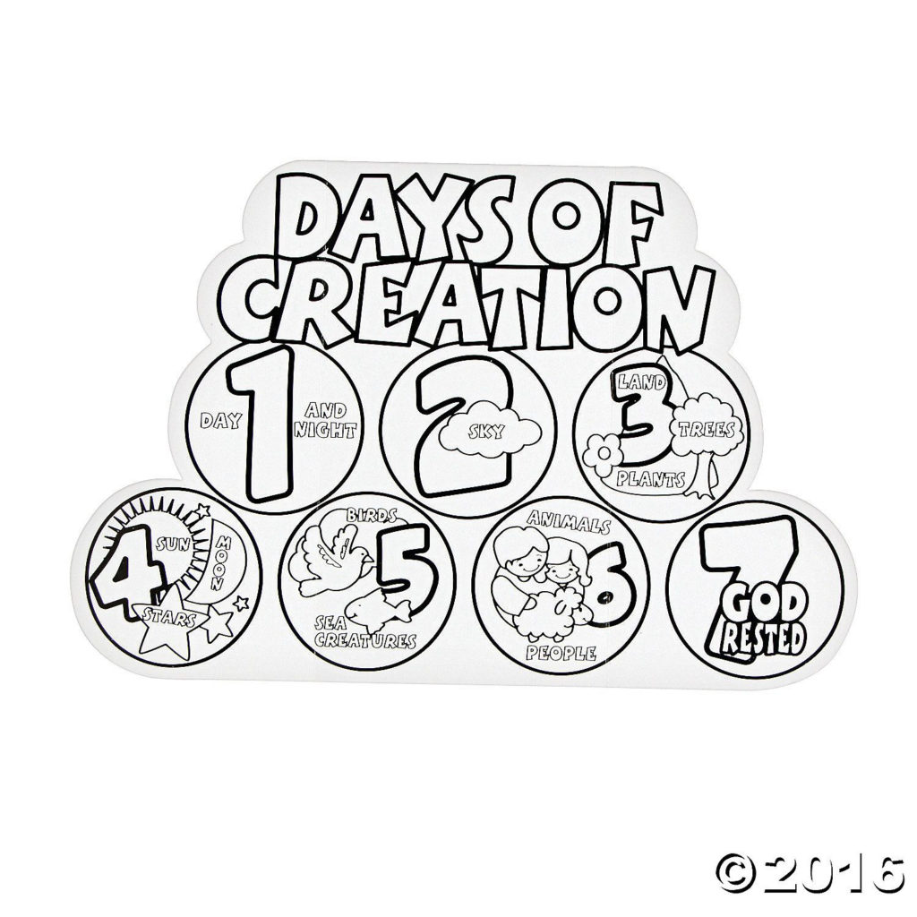 Color Your Own 7 Days Of Creation Displays Creation
