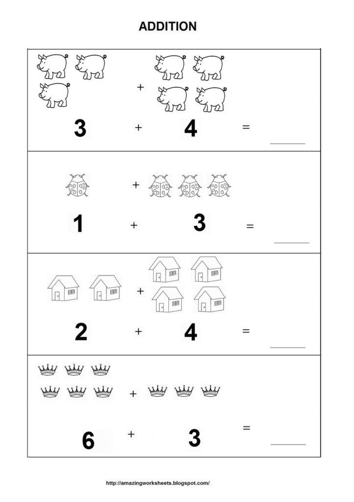 Preschool Addition Worksheets