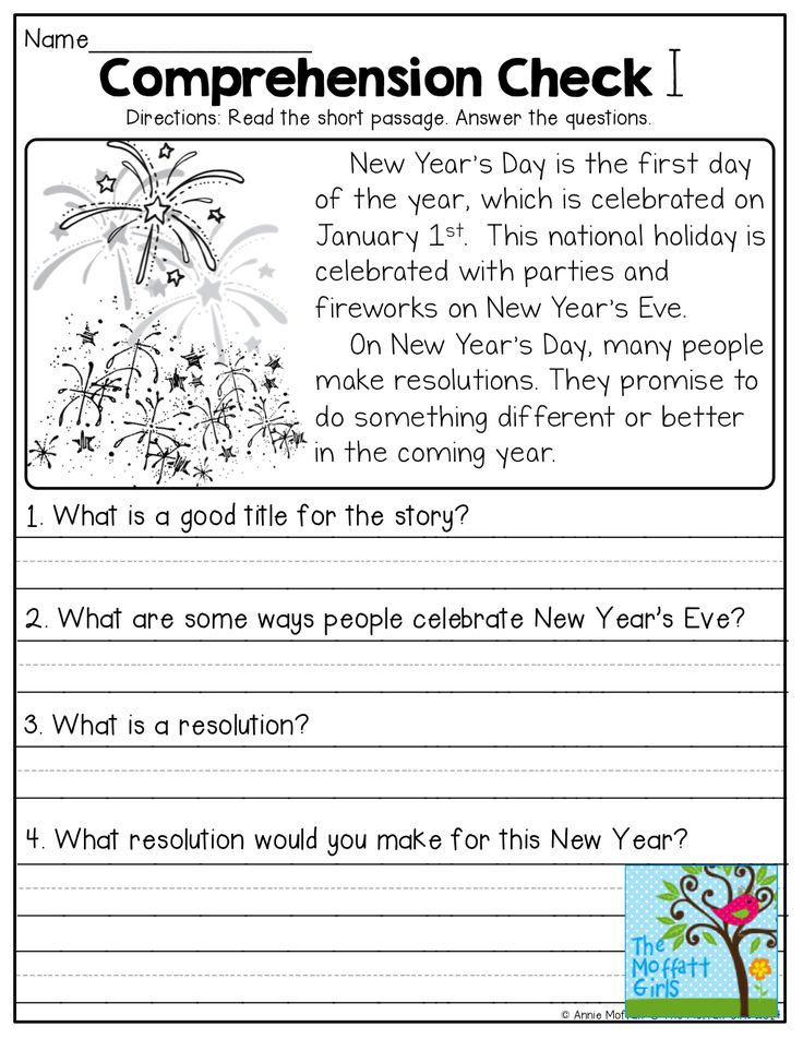 Year 1 Reading Comprehension Worksheets Free