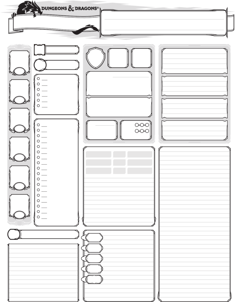 Dashing Printable Dnd Character Sheet Brad Website
