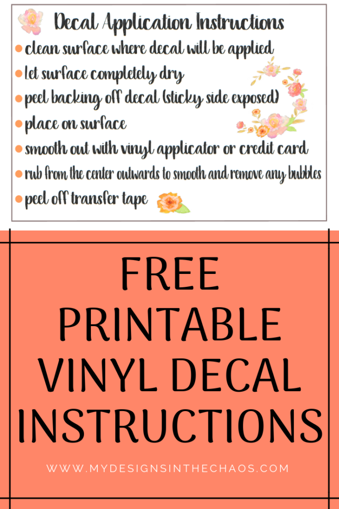 Decal Application Instructions Printable Phone Decals