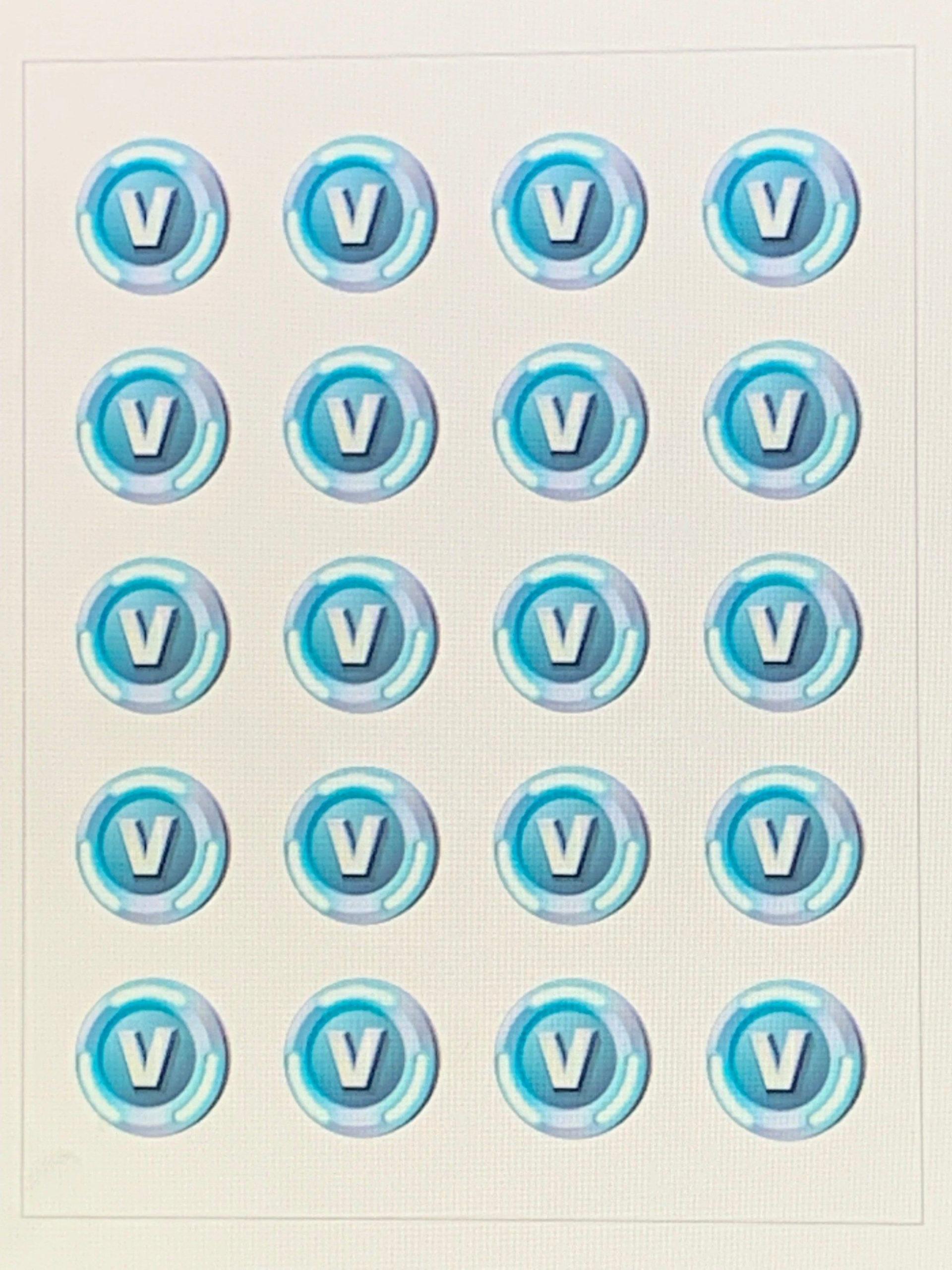 Free V Bucks Printable For Chocolate Coins