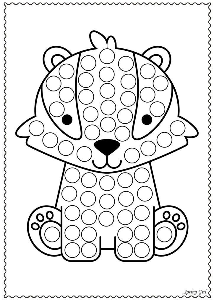 Do A Dot Animals Dot Marker Printables Do A Dot Dot