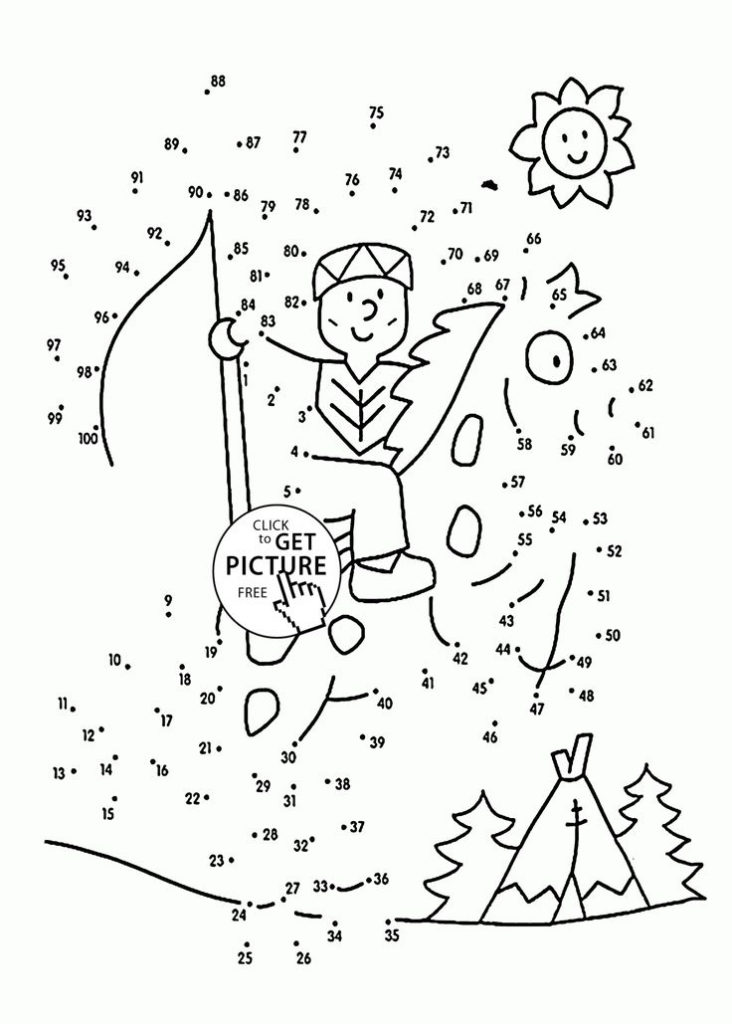 Dot To Dot To 100 Coloring Pages For Kids Connect The