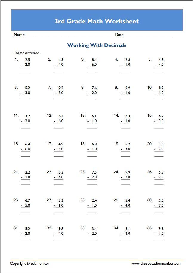 Free Printable 3rd Grade Curriculum