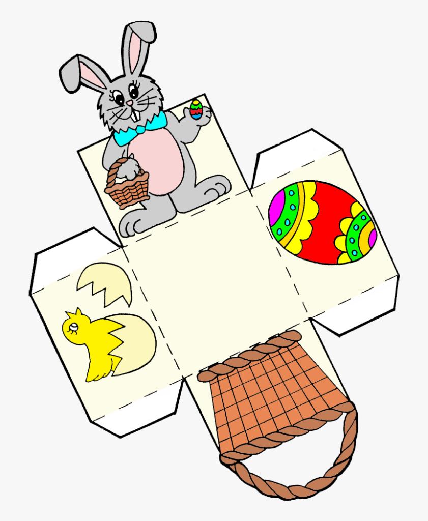 Easter Egg Basket Template Clipart Png Download Easter