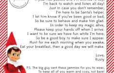 Elf On The Shelf Arrival Letter Template Google Search