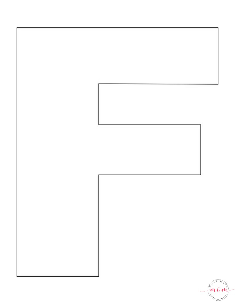 Letter F Template Free Printable