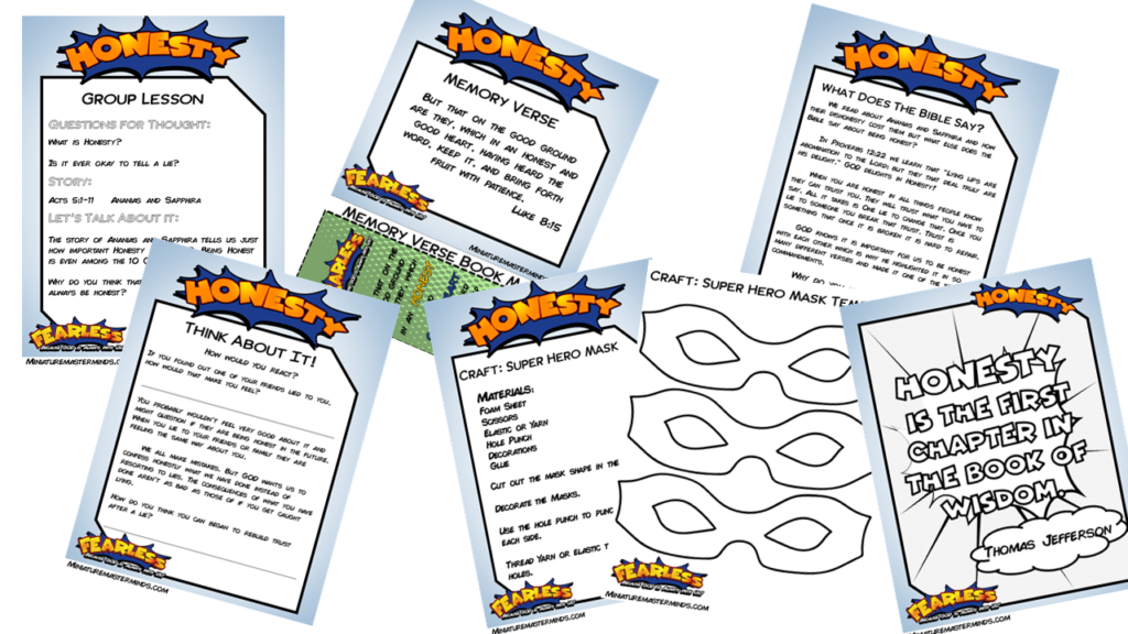Fearless Free Printable 5 Day Vacation Bible School Or