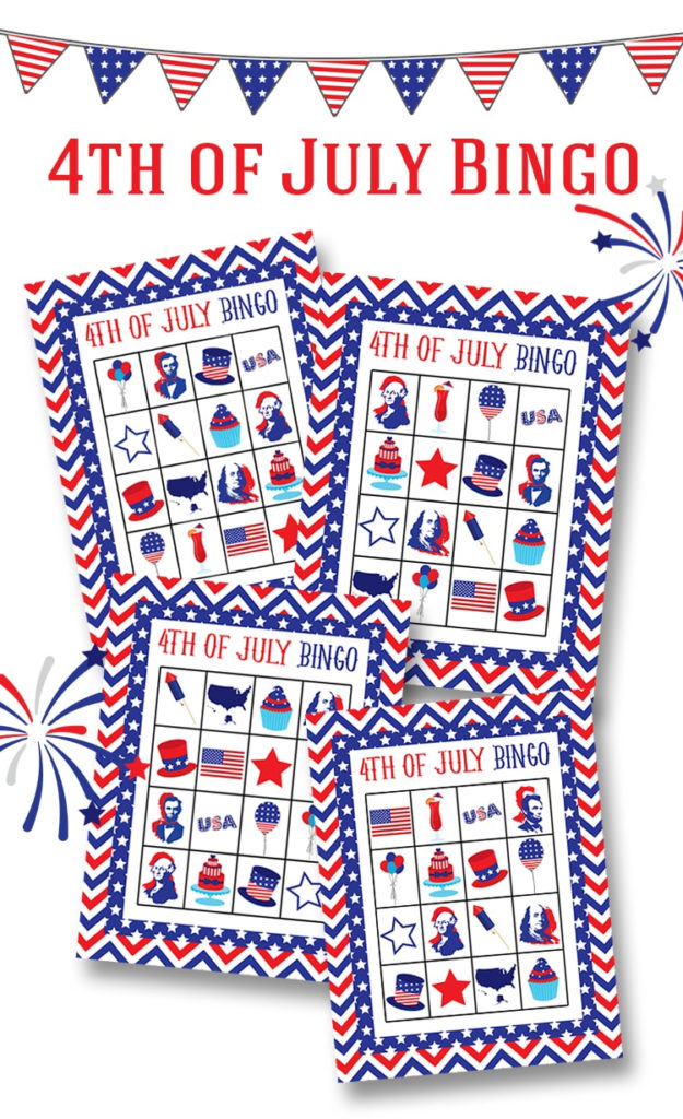 FREE 4th Of July Bingo Printable Lil Luna