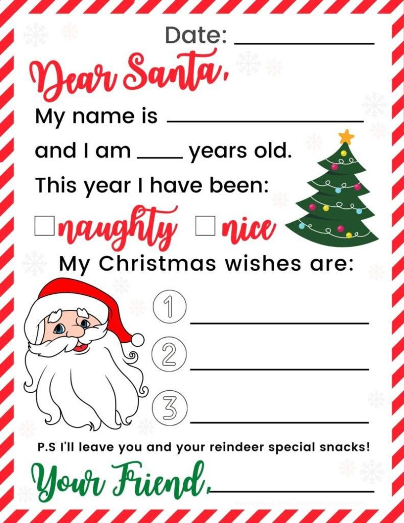 Free Adorable Printable Letter To Santa 1 Bonus Mailing