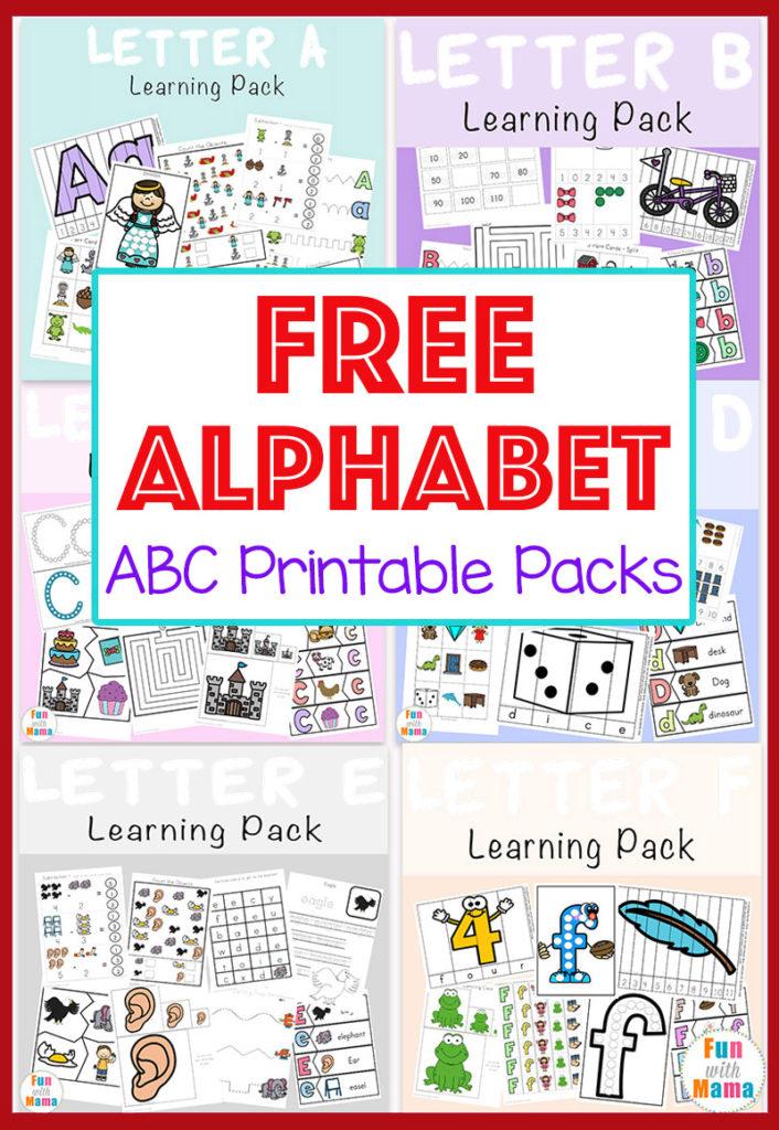 Free Alphabet ABC Printable Packs Fun With Mama
