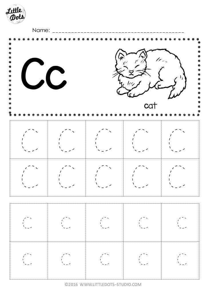 Tracing The Letter C Free Printable