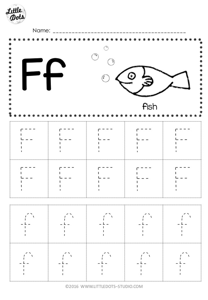 Tracing The Letter F Free Printable