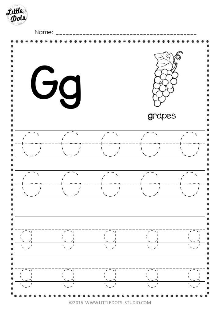 Letter G Free Printables