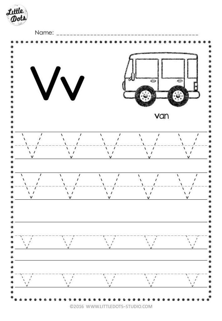 Free Letter V Tracing Worksheets Letter Worksheets For
