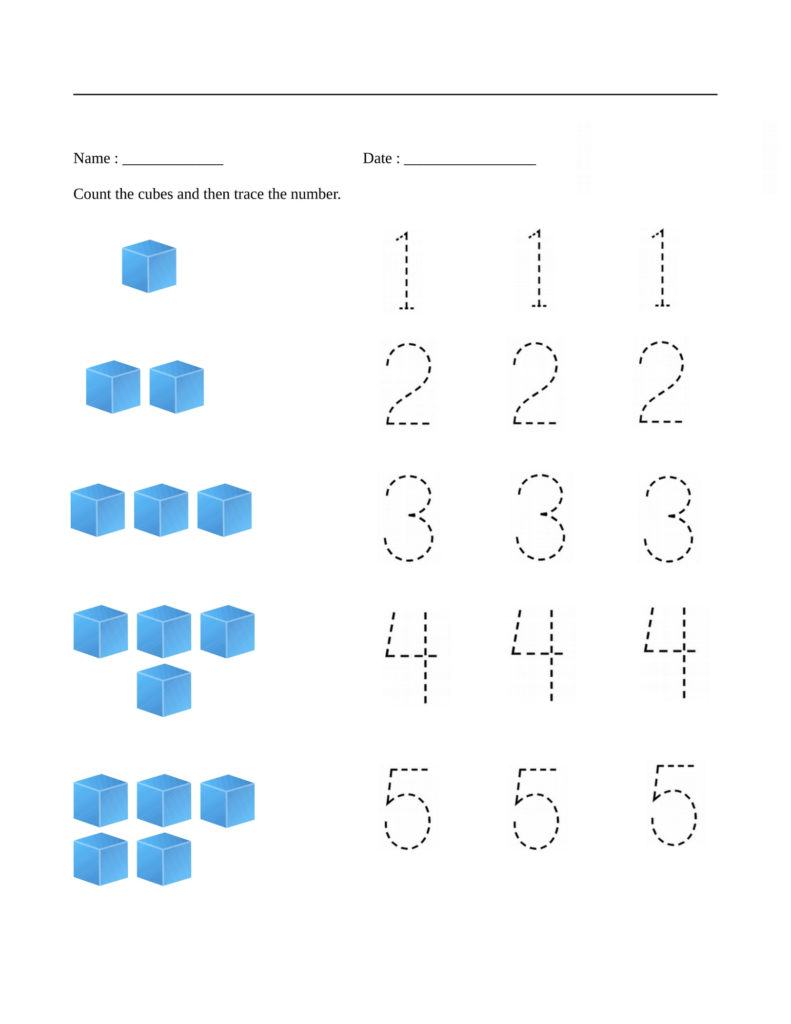 Free Math Printables Preschool K5 Worksheets