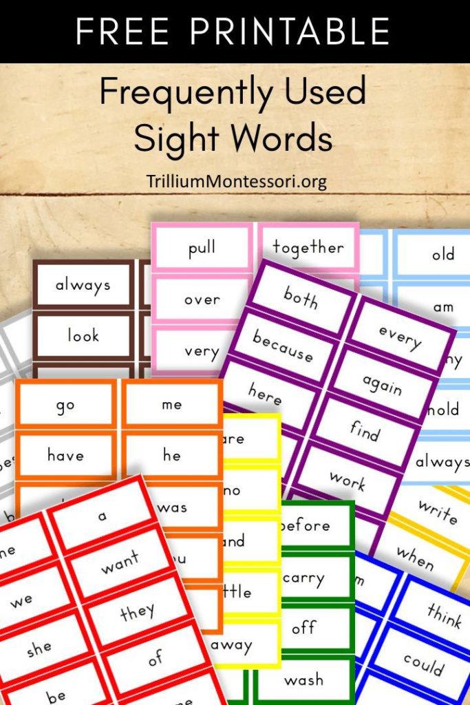 Free Montessori Printable Puzzle Words Trillium