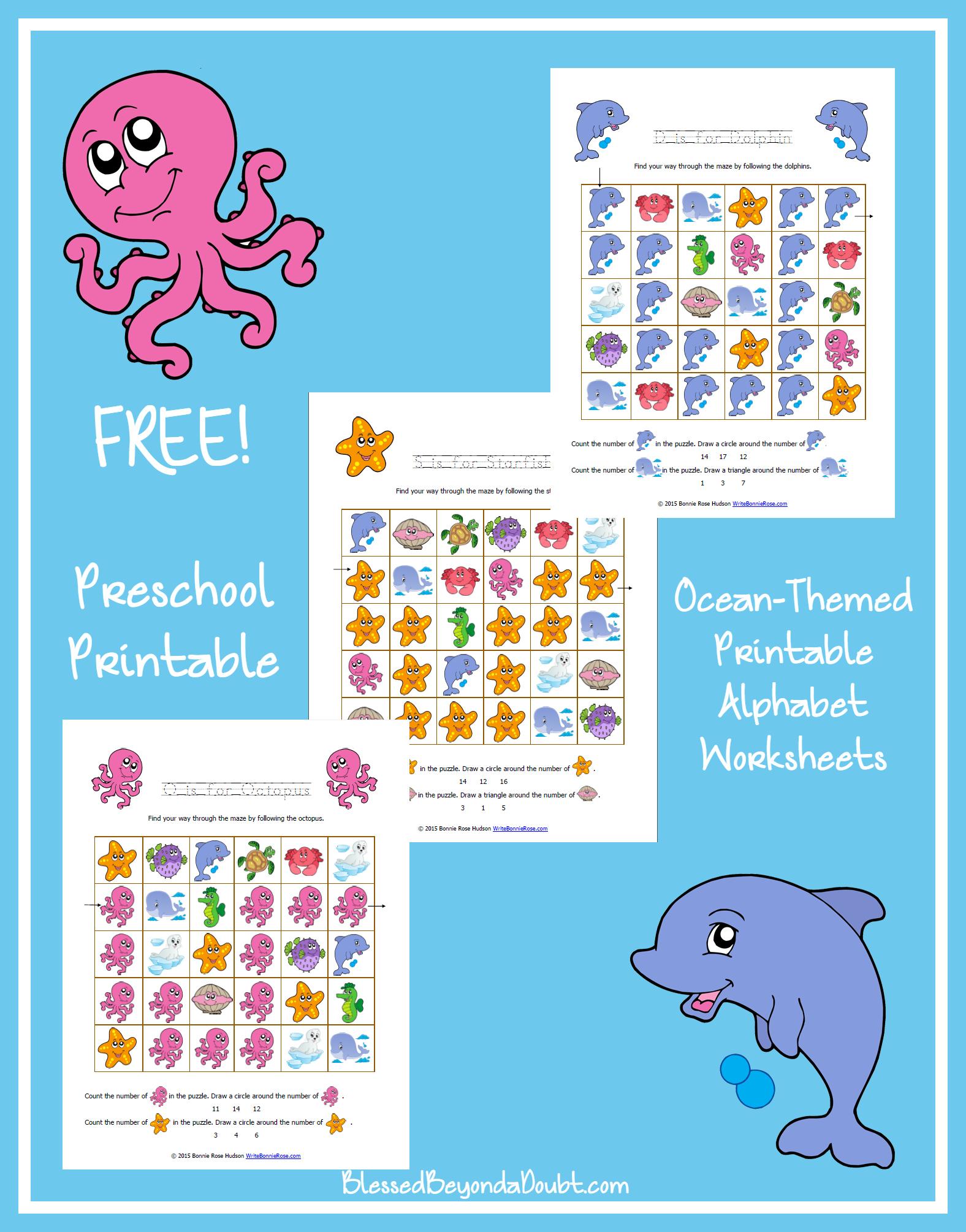 Free Printable Ocean Worksheets